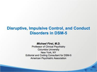 Disruptive, Impulsive Control, and Conduct Disorders in ...